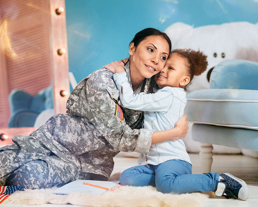 Military Mother and Daughter